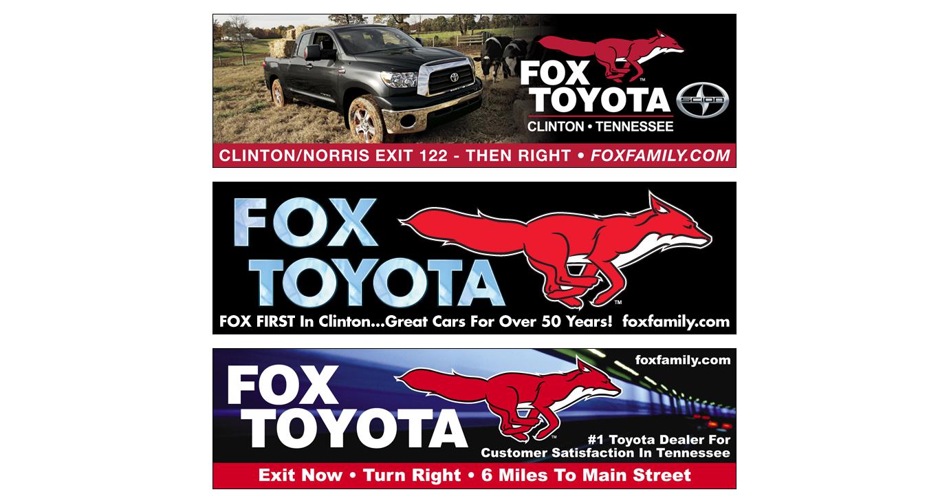 3 Degrees Advertising U0026 Marketing Design. Gallery: Outdoor: Fox Toyota.