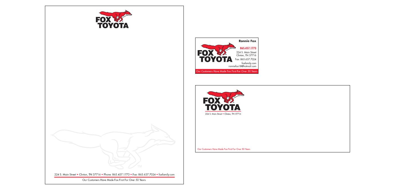 Marvelous 3 Degrees Advertising U0026 Marketing Design. Gallery: Corporate Identity: Fox  Toyota.